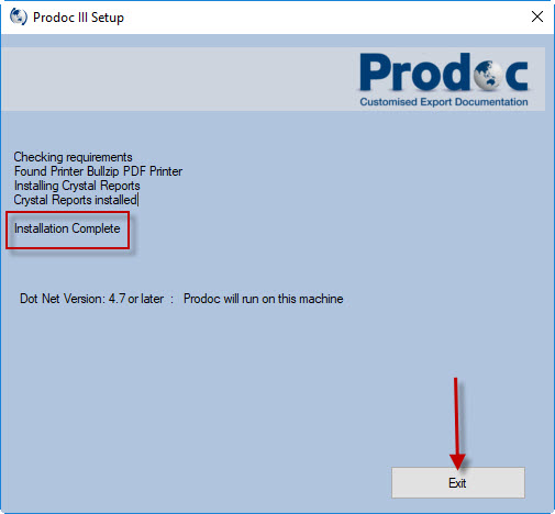 Install Prodoc III for clients (user computer/terminal